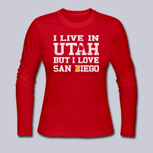 Live Utah Love San Diego - Women's Long Sleeve Jersey T-Shirt