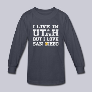 Live Utah Love San Diego - Kids' Long Sleeve T-Shirt