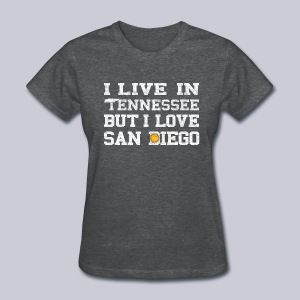 Live Tennessee Love San Diego - Women's T-Shirt