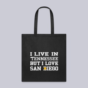 Live Tennessee Love San Diego - Tote Bag
