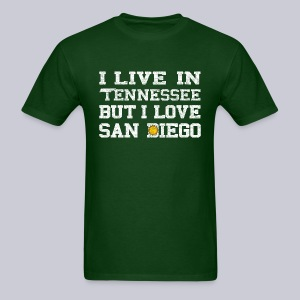 Live Tennessee Love San Diego - Men's T-Shirt
