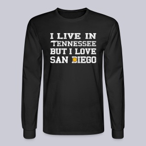 Live Tennessee Love San Diego - Men's Long Sleeve T-Shirt