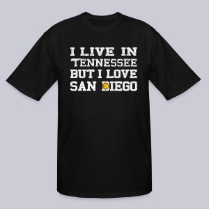 Live Tennessee Love San Diego - Men's Tall T-Shirt