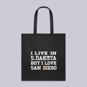 Live South Dakota Love San Diego - Tote Bag