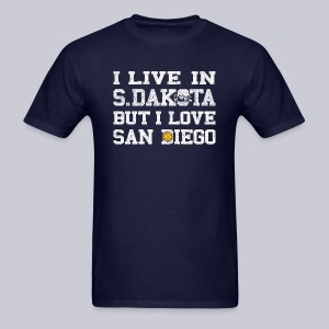 Live South Dakota Love San Diego - Men's T-Shirt