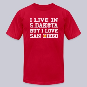 Live South Dakota Love San Diego - Men's T-Shirt by American Apparel