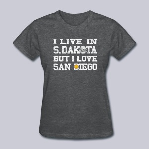 Live South Dakota Love San Diego - Women's T-Shirt