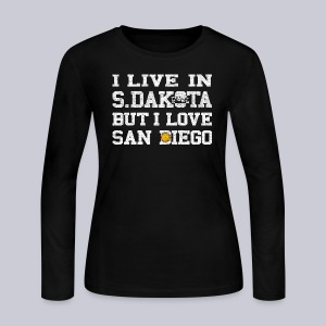 Live South Dakota Love San Diego - Women's Long Sleeve Jersey T-Shirt