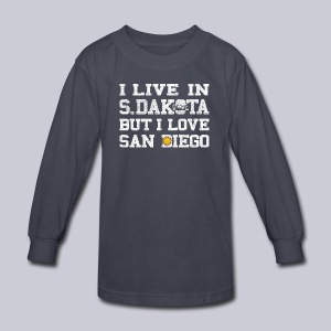 Live South Dakota Love San Diego - Kids' Long Sleeve T-Shirt