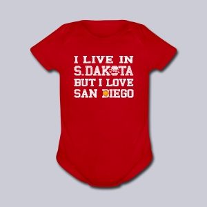 Live South Dakota Love San Diego - Short Sleeve Baby Bodysuit