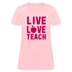 Women's T-Shirt - writing,team kindergarten,team,reading,nap time,math,learning tools,kreative kinder,kinders,kindergarten,kinder,interactive learning,elementary,creativity,classroom,books,back to school,abc,Teacher,School,123