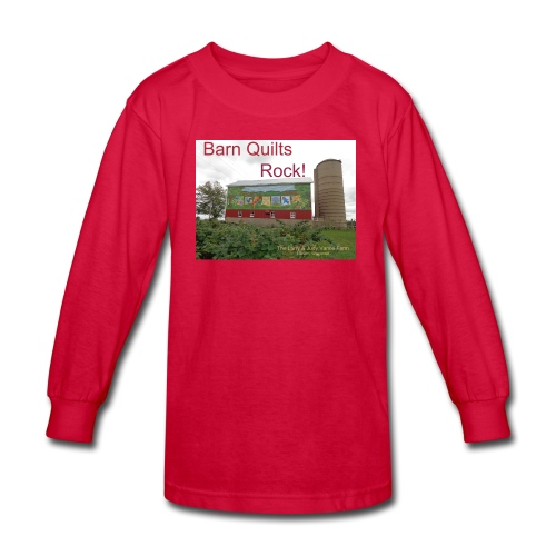 Barn Quilts Rock! Kid's long sleeved - Kids' Long Sleeve T-Shirt