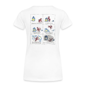Large logo, Cartoon, Quotes - Women's Premium T-Shirt