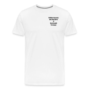 Small logo, Website, Quotes - Men's Premium T-Shirt