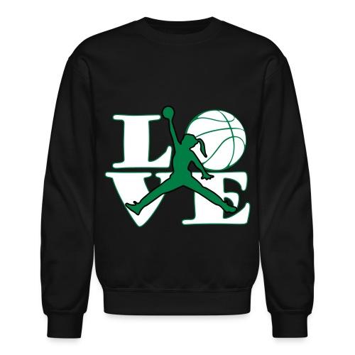 Girls LOVE BASKETBALL - Crewneck Sweatshirt