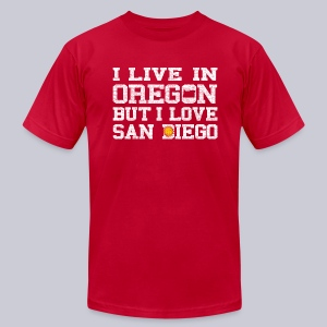 Live Oregon Love San Diego - Men's T-Shirt by American Apparel