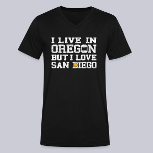 Live Oregon Love San Diego - Men's V-Neck T-Shirt by Canvas