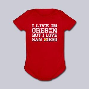 Live Oregon Love San Diego - Short Sleeve Baby Bodysuit