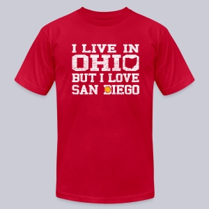 Live Ohio Love San Diego - Men's T-Shirt by American Apparel