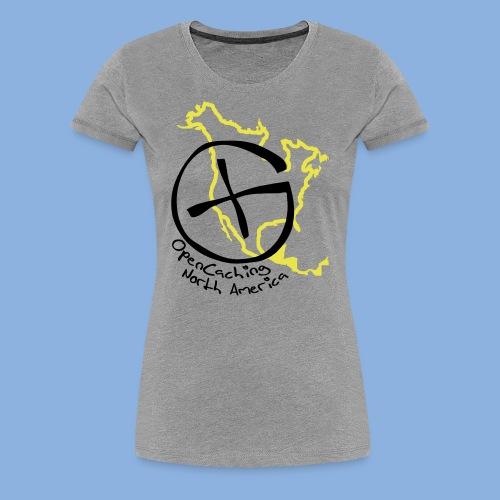 OCNA Logo Women's Premium T-Shirt Gray - Women's Premium T-Shirt