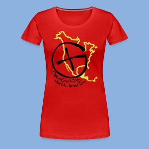 OCNA Logo Women's Premium T-Shirt Red - Women's Premium T-Shirt