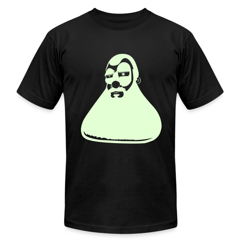 BINGO SL!CKS (Glow In The Dark Flex) - Men's Fine Jersey T-Shirt