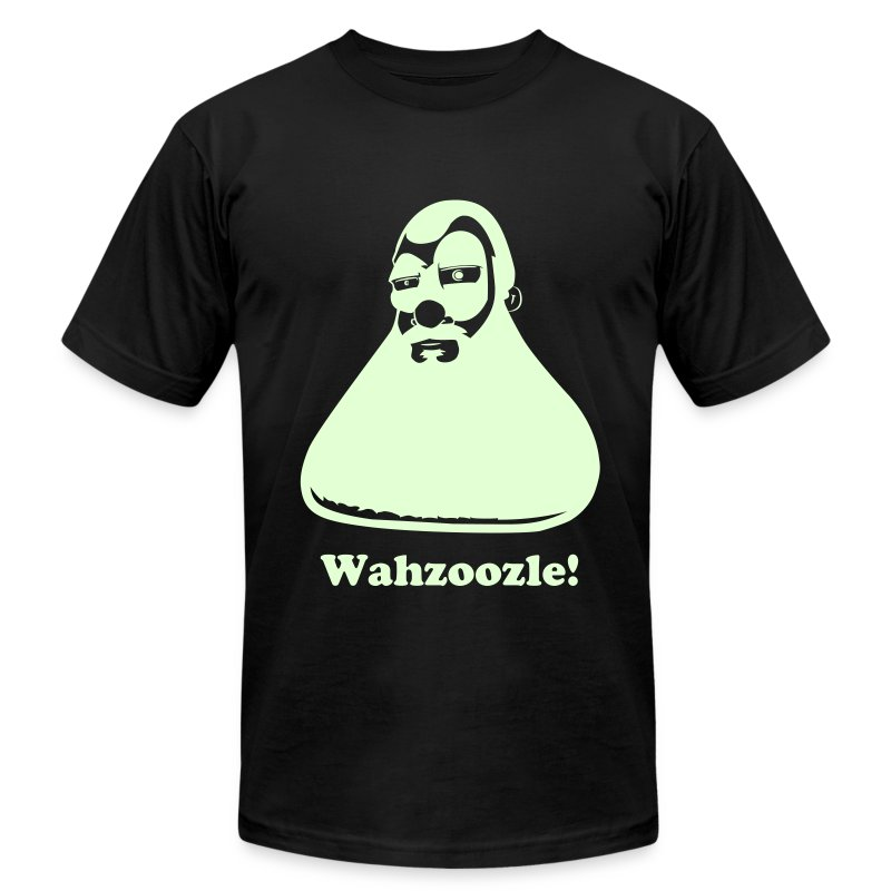 Wahzoozle! (Glow In The Dark Flex) - Men's T-Shirt by American Apparel