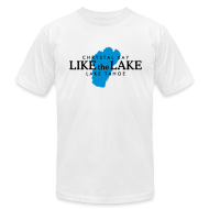 T-Shirts ~ Men's T-Shirt by American Apparel ~ Lake Tahoe Crystal Bay T-Shirt (Men/White)