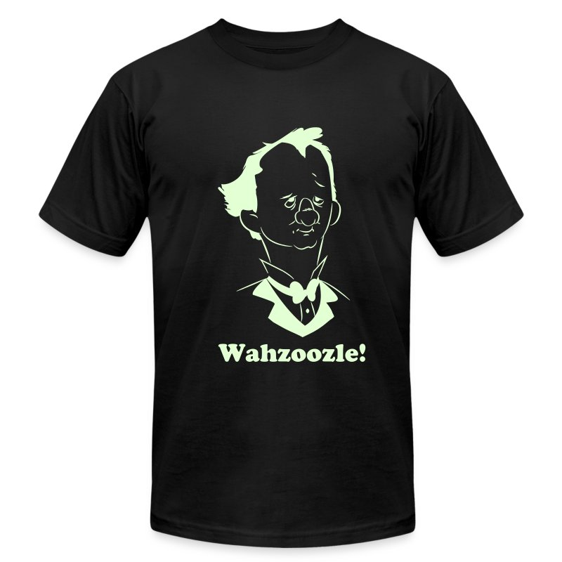 Wahzoozle!  (Flex Glow in the Dark Edition) - Men's T-Shirt by American Apparel