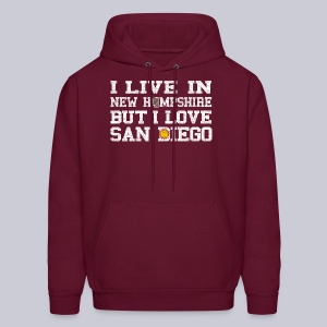 Live New Hampshire Love San Diego - Men's Hoodie