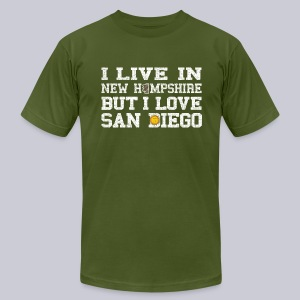 Live New Hampshire Love San Diego - Men's T-Shirt by American Apparel