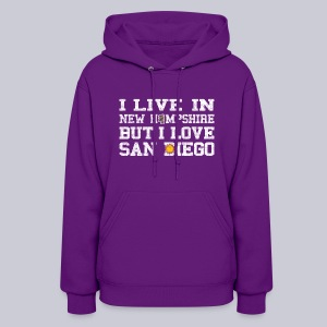 Live New Hampshire Love San Diego - Women's Hoodie