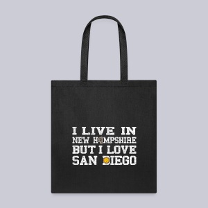 Live New Hampshire Love San Diego - Tote Bag
