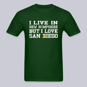 Live New Hampshire Love San Diego - Men's T-Shirt