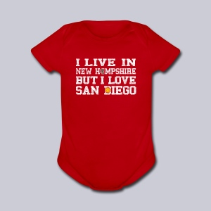 Live New Hampshire Love San Diego - Short Sleeve Baby Bodysuit