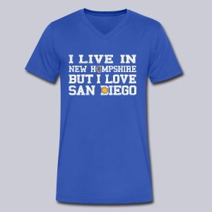 Live New Hampshire Love San Diego - Men's V-Neck T-Shirt by Canvas