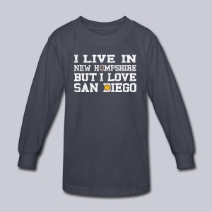 Live New Hampshire Love San Diego - Kids' Long Sleeve T-Shirt