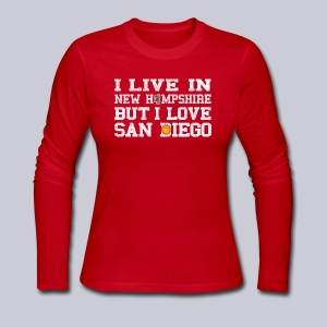 Live New Hampshire Love San Diego - Women's Long Sleeve Jersey T-Shirt