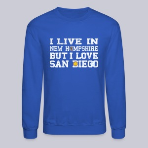 Live New Hampshire Love San Diego - Crewneck Sweatshirt