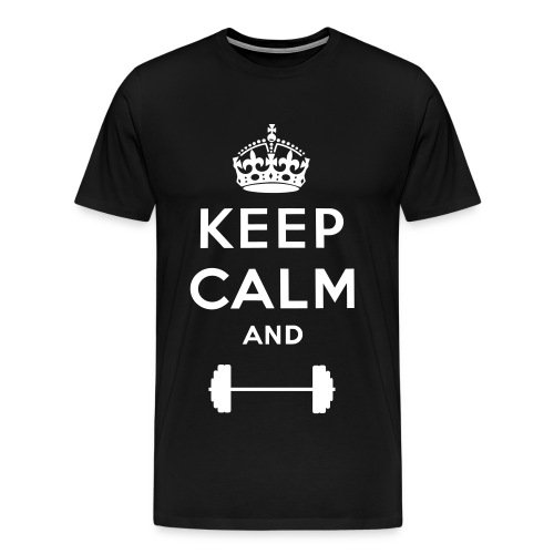 Keep Calm and Lift Tee - Men's Premium T-Shirt