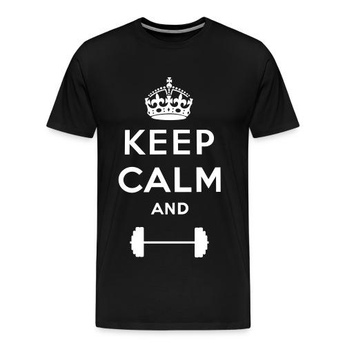 Keep Calm and Lift Tee - Men's Premium T-Shirt