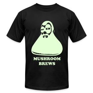 MUSHROOM BREWS (Glow In The Dark Flex) - Men's Fine Jersey T-Shirt