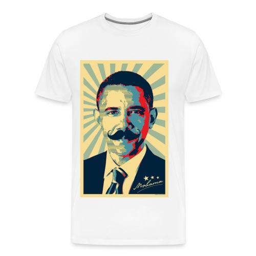 Obama Mustache T-Shirt - Men's Premium T-Shirt