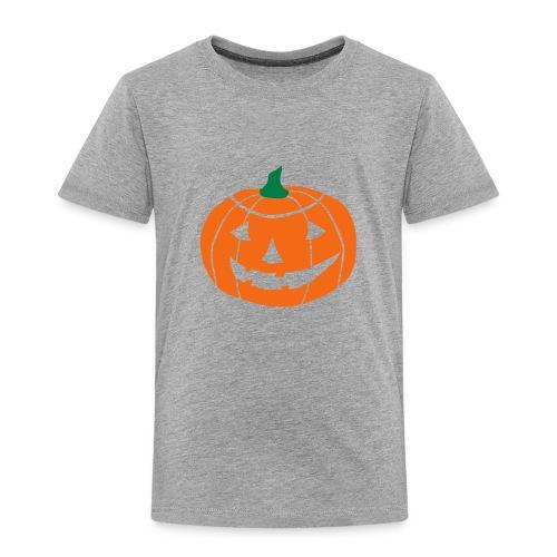 Cheerful Halloween Pumpkin - Toddler Premium T-Shirt