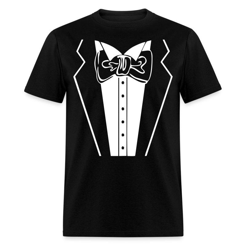 Tuxedo t shirt spreadshirt for Tuxedo shirt vs dress shirt