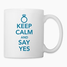 Keep calm and say yes Bottles & Mugs