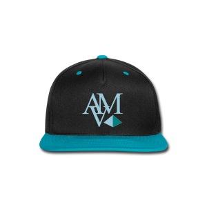 light blue & teal print - Snap-back Baseball Cap