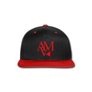 red & burgundy print - Snap-back Baseball Cap
