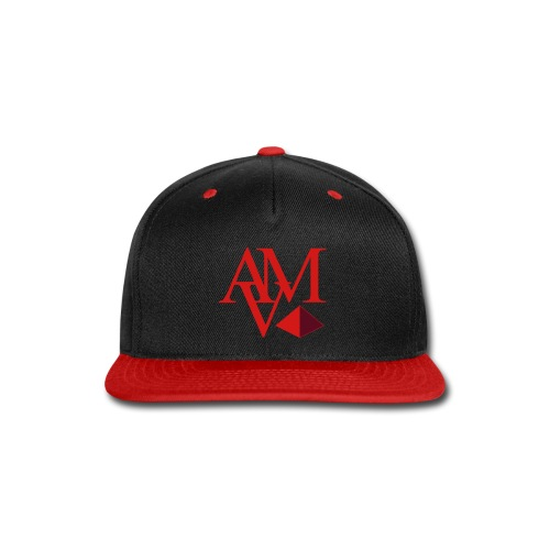 red & burgundy print - Snap-back Baseball Cap