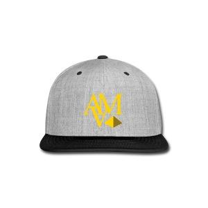 yellow & reflective gold print - Snap-back Baseball Cap